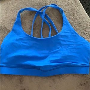 Lululemon Bright Blue Sports bra Criss Cross Back